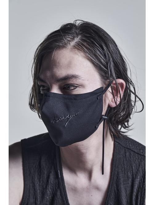 kiryuyrik・キリュウキリュウ/Heavy Mesh Embroidery Face Cover/Black