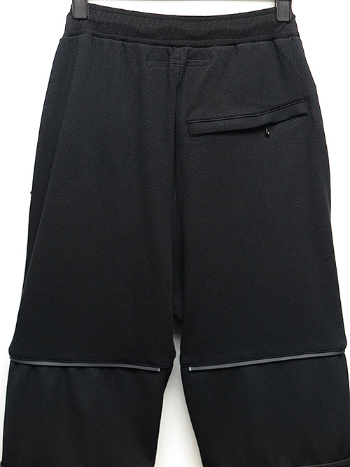 SALE40%OFF/NIL/S・ニルズ/COTTON DOUBLE FACE TROUSERS BLACK.