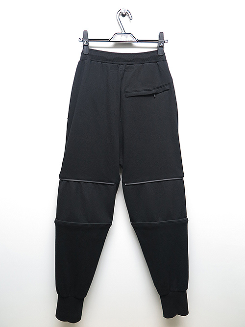 SALE50%OFF/NIL/S・ニルズ/COTTON DOUBLE FACE TROUSERS BLACK.