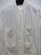 nude:masahiko maruyama ・ヌード:マサヒコマルヤマ/Cupro/Cotton/Linen Kersey Oversized Long Shirt/WHT