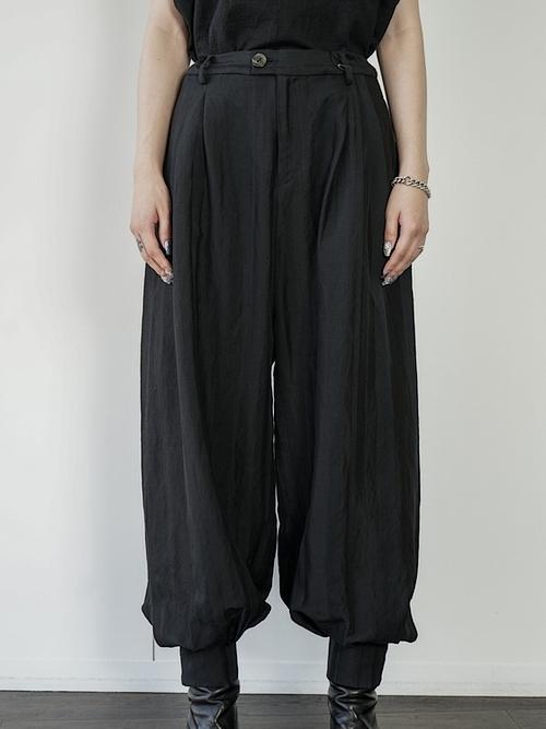 (予約品)1〜3月入荷予定/kujaku・クジャク /  higotai pants/BLK