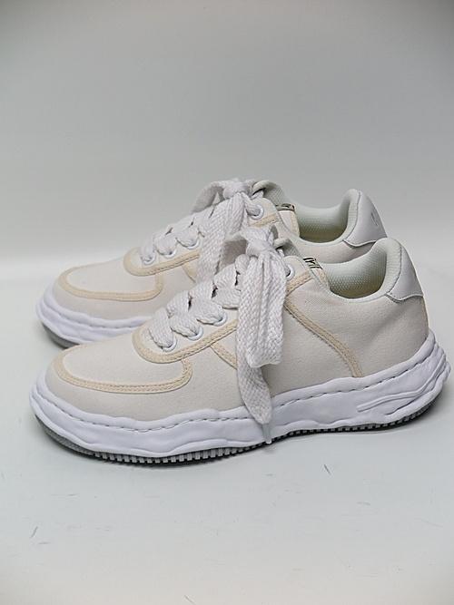 MIHARA YASUHIRO・ミハラヤスヒロ/WAYNE LOW / original sole canvas Low-Top sneaker/WHT