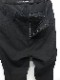 JULIUS・ユリウス/WOOL/RAYON CREPE TROUSERS FOR MALE/BLK