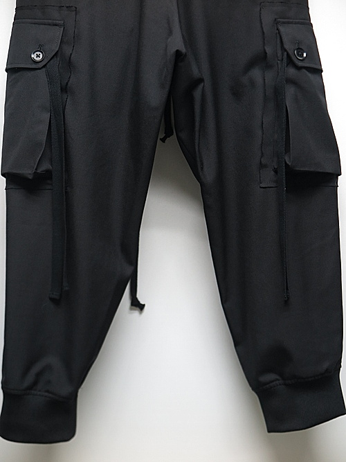 Ground Y・グラウンドワイ/T/W gabardine Military Cargo Pants/BLK