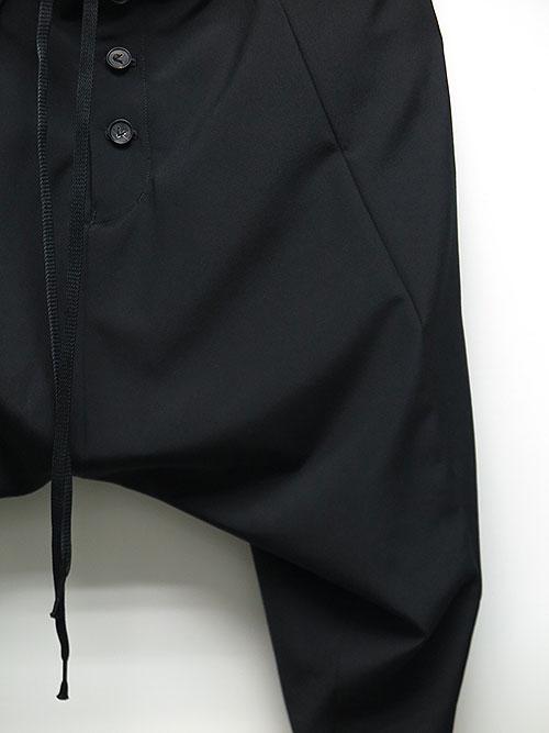 SALE40%OFF/The Viridi-anne・ザ ヴィリディアン/ウールポプリン サルエルパンツ BLACK.