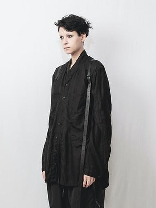(予約品)1〜2月入荷予定/nude:masahiko maruyama ・ヌード:マサヒコマルヤマ/Cupro/Cotton/Linen Kersey OversizedShirt/BLK