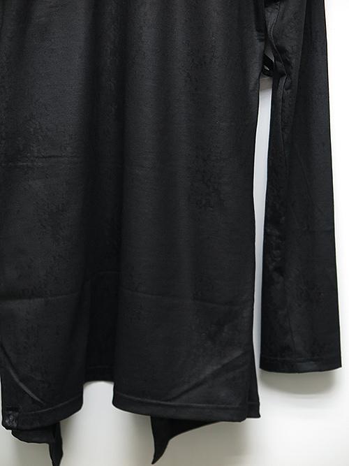 KiryuyriK・キリュウキリュウ/Heat Tech Jersey Cross Print Wrap Cardigane/BKBK.