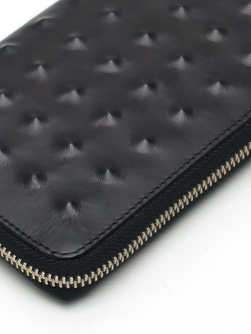 MIHARAYASUHIRO/COW leather invisible studs long wallet/BLK.