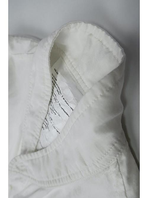 nude:masahiko maruyama ・ヌード:マサヒコマルヤマ/Cupro/Cotton/Linen Kersey OversizedShirt/WHT