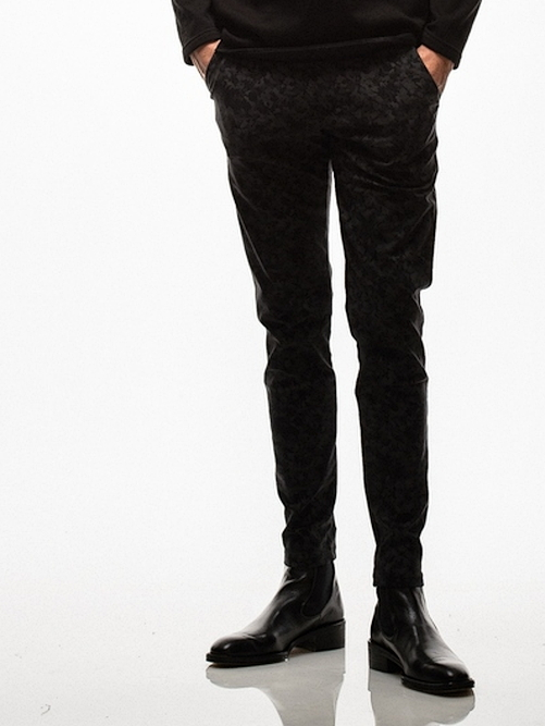 18TH RESOUND CLOTHING・リサウンドクロージング/ CHRIS EASY PANTS TIGHT TAPERD/mosaic BK
