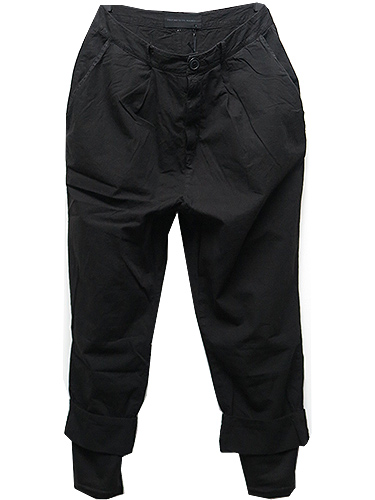 SALE/First Aid to the Injured・ファーストエイドトゥザインジュアード/COTTON MULIER PANT/BLACK.