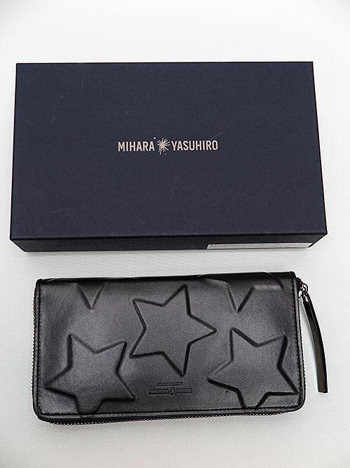 MIHARAYASUHIRO/COWleather star long wallet/BLK.
