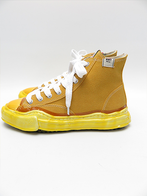 MIHARA YASUHIRO・ミハラヤスヒロ/original sole dip hitop sneaker/YEL.