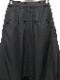 (予約品)1〜2月入荷予定/nude:masahiko maruyama ・ヌード:マサヒコマルヤマ/Cupro/Cotton/Linen Kersey 2 Tucks Cropped Sarouel Pants/BLK