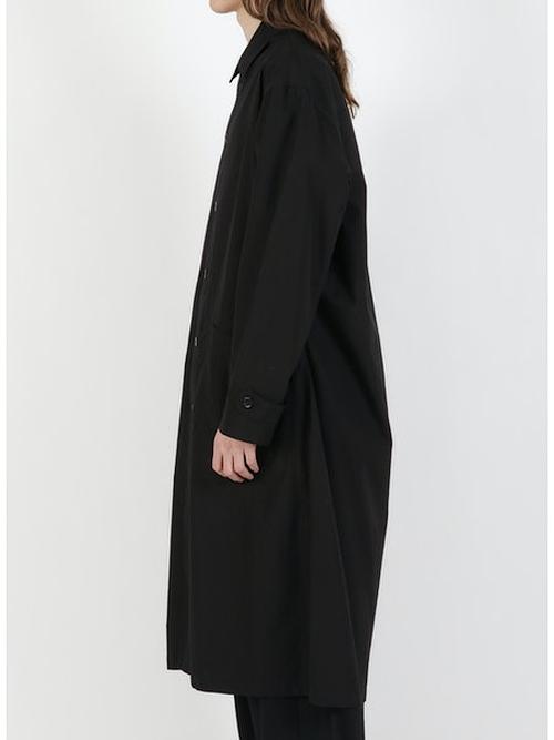 Yohji Yamamoto・ヨウジヤマモト/C.環縫いブロードM-環縫いシャツコート/ブラック