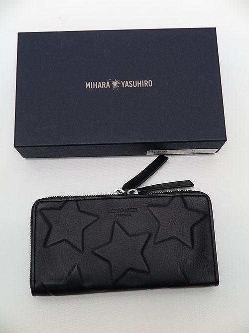 MIHARAYASUHIRO/COWleather invisible star wallet/BLK.