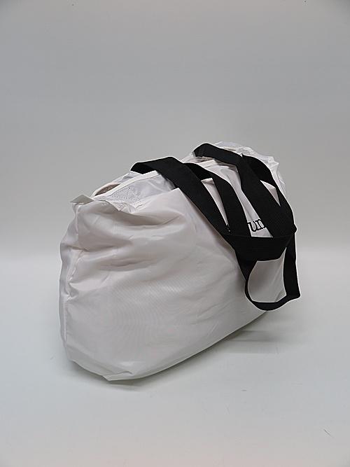 Ground Y・グラウンドワイ・Packable Boston Bag/WHITE