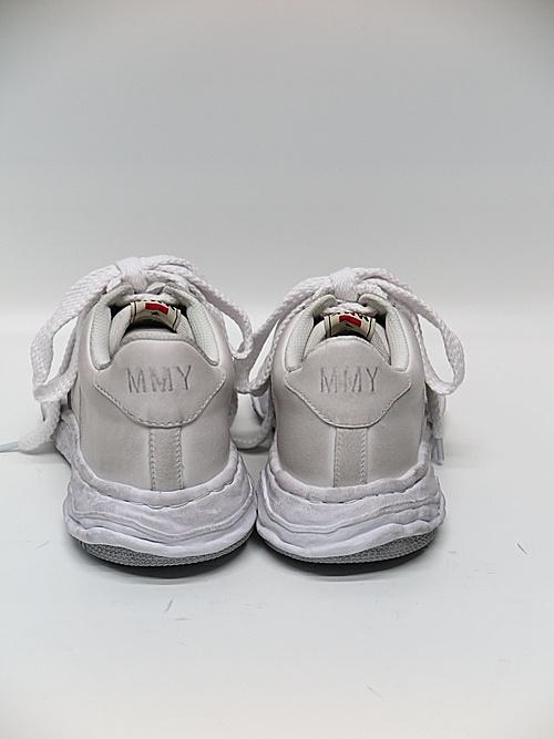 MIHARA YASUHIRO・ミハラヤスヒロ/WAYNE LOW / original distressed effect sole leather Low-Top sneaker/WHT
