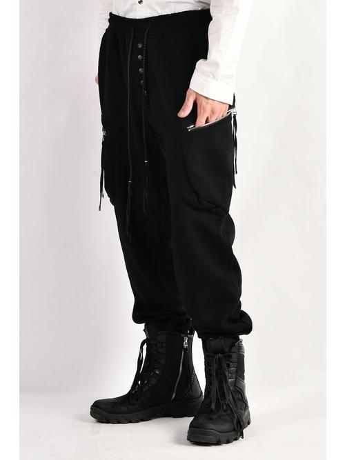 ケムリ/Fleece Double Pocket Pants/BLK