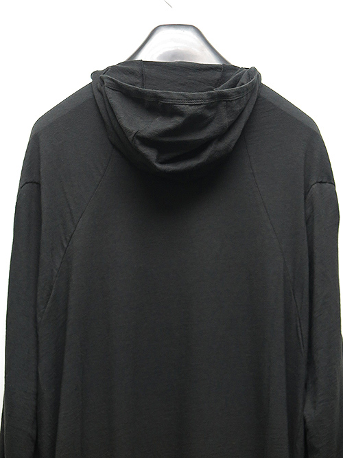 SALE50%OFF/D.HYGEN・ディーハイゲン/ヤク天竺バラクラバフードロングスリーブTシャツ/BLACK.