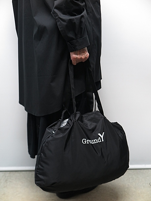 Ground Y・グラウンドワイ・Packable Boston Bag/BLACK