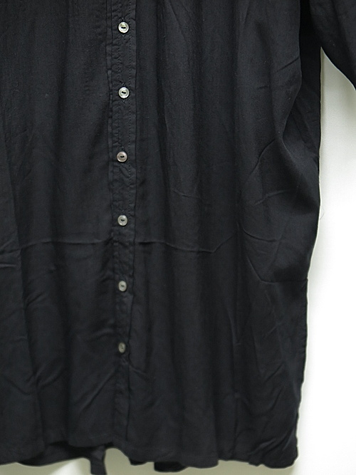 KMRii・ケムリ/Stealth Rayon Lazy Shirt/BLK