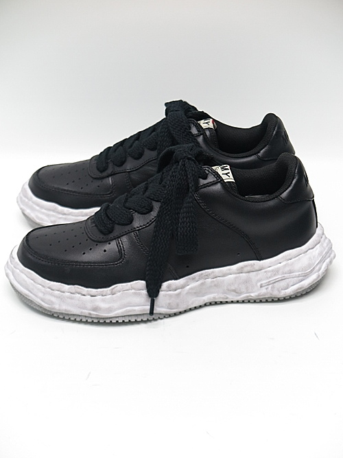 MIHARA YASUHIRO・ミハラヤスヒロ/WAYNE LOW / original distressed effect sole leather Low-Top sneaker/BLK