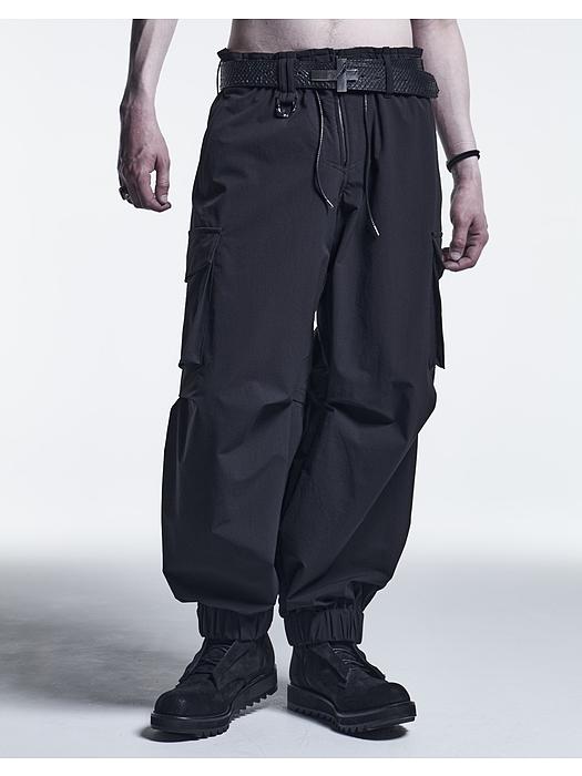 (予約品)9月入荷予定/kiryuyrik・キリュウキリュウ/2Way-W-Cloth Cargo Pants/Black