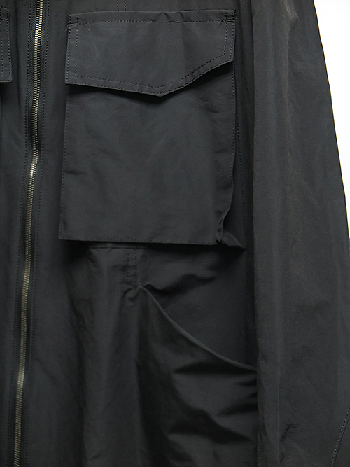 SALE40%OFF/The Viridi-anne・ザ ヴィリディアン/綿/ナイロン ノーカラーコート BLACK.