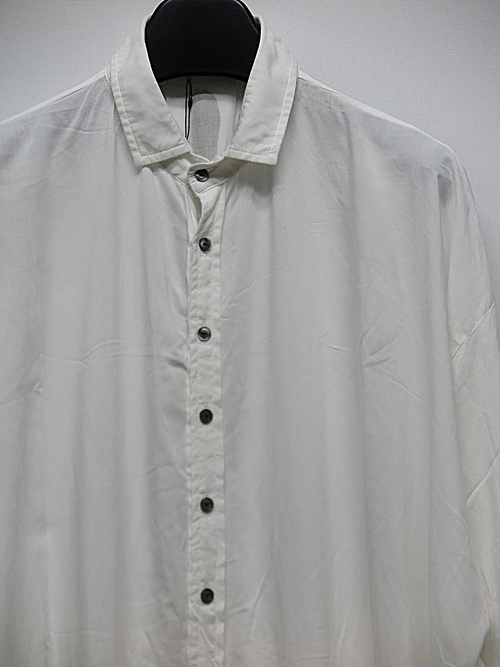 KMRii・ケムリ/Stealth Rayon Lazy Shirt/WHT