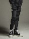 (予約品)11月入荷/22TH RESOUND CLOTHING・リサウンドクロージング/SUPER TIGHT TAPERD Double Velours fleece SLASH LINE PT/BLACK