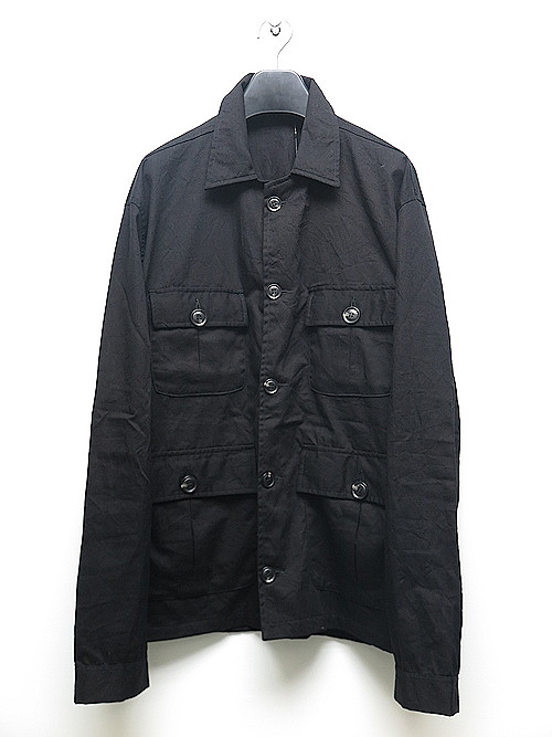 KMRii・ケムリ/Cotton Splash Field Shirt/BLACK