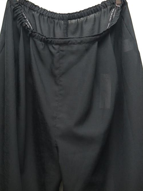 (予約品)1〜2月入荷予定/nude:masahiko maruyama ・ヌード:マサヒコマルヤマ/Polyester Linning Inner Pants/BLK