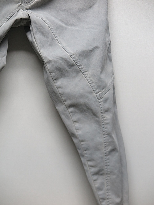 SALE30%OFF/KMRii・ケムリ/Cotton Spandex Pigment Dye Stretch Twill Pants/L.Chacoal