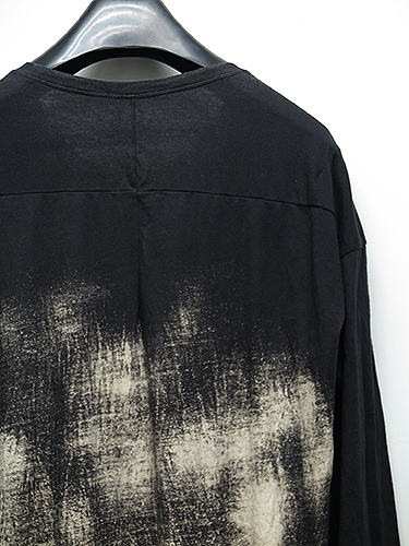SALE30%OFF/KMRii(ケムリ)Cotton Discharge Cut 03/LS/BLK