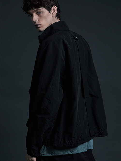 The Viridi-anne・ザ ヴィリディアン/綿/ナイロン  ブルゾン BLACK