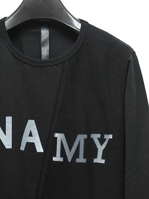 wjk・ダブルジェイケイ/NA/MY long T/ブラック.