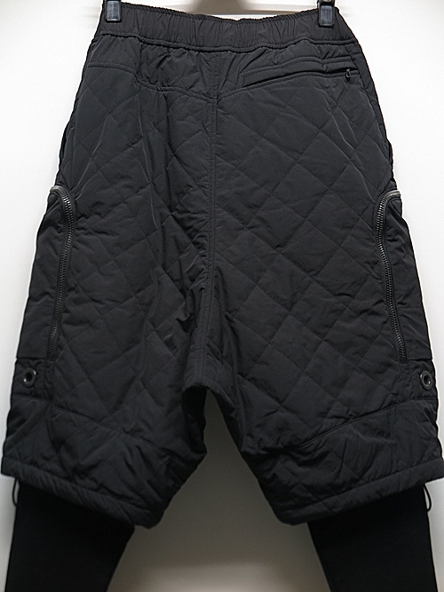 NIL/S・ニルズ/QUILTED POLYESTER POPLIN TROUSERS FOR MALE/BLK