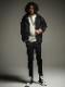 (予約品)11月入荷/22TH RESOUND CLOTHING・リサウンドクロージング/TIGHT TAPERD CHRIS EASY HEAT PANTS/BLACK