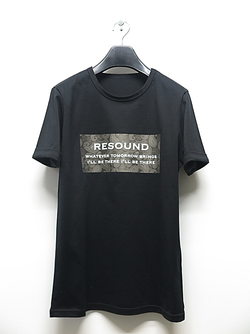 19TH RESOUND CLOTHING・リサウンドクロージング/BANDANA BOX ROGO ROLL UP jersey TEE/BLACK