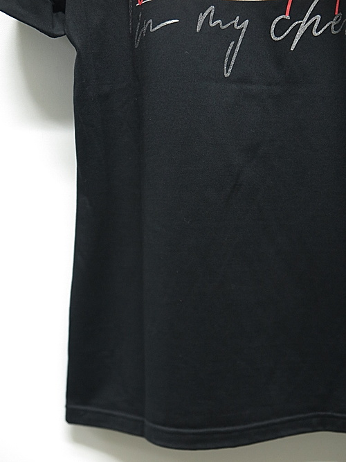 SALE30%OFF/RESOUND CLOTHING・リサウンドクロージング/Message chest ROLL UP jersey TEE/BLK