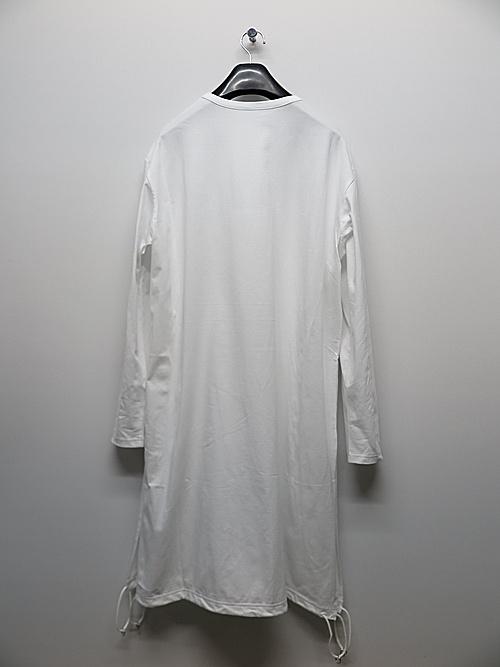 Ground Y・グラウンドワイ・30/Cotton Jersey A Tied Long Sleeve/WHITE.