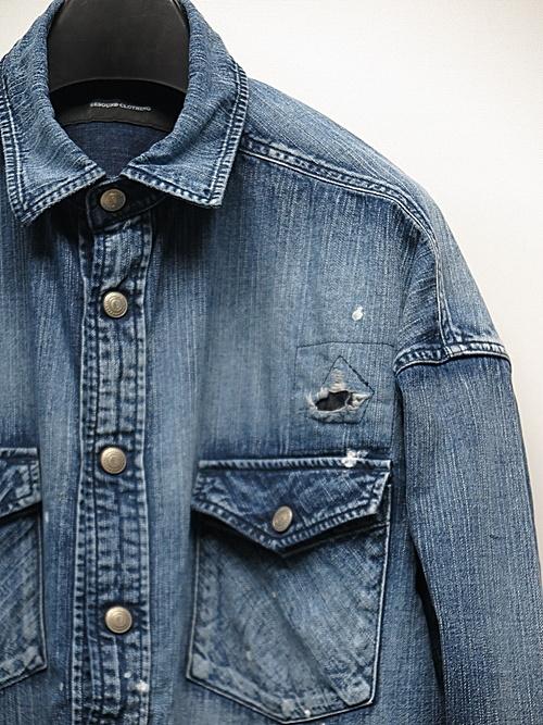 18TH RESOUND CLOTHING・リサウンドクロージング/ OVER DENIM shirts/REMAKE
