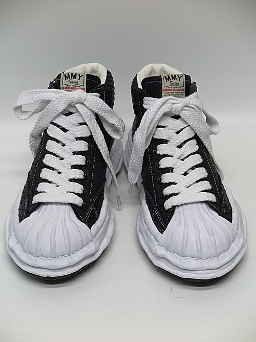 MIHARA YASUHIRO・ミハラヤスヒロ/BLAKEY HIGH / original shell toe sole cut leather High-Top sneaker/BLK