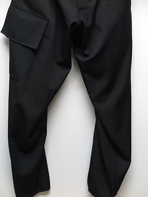 Yohji Yamamoto・ヨウジヤマモト/RE ギャバ S-WリブフラップPパンツ/ブラック