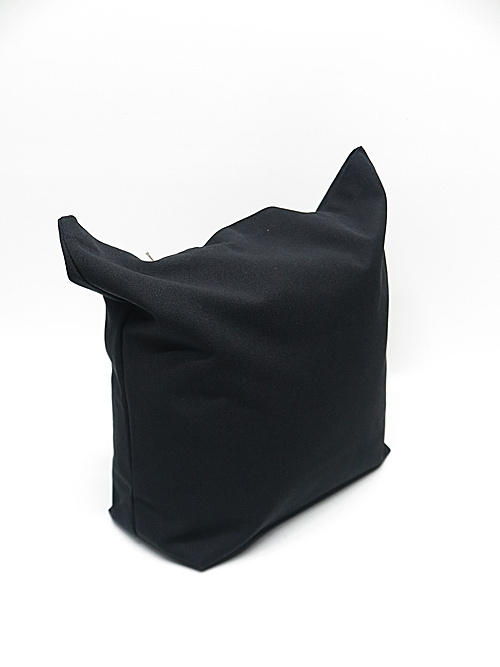 Ground Y・グラウンドワイ/Cotton canvas <Y>logo tote bag/BLK