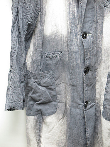 SALE40%OFF/KMRii(ケムリ)Cotton Discharge Crepe Coat/CHA.
