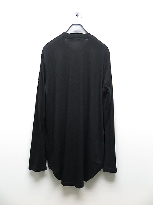JULIUS・ユリウス/CO/MO JERSEY  PATCH PRINT SHIRT BLACK.