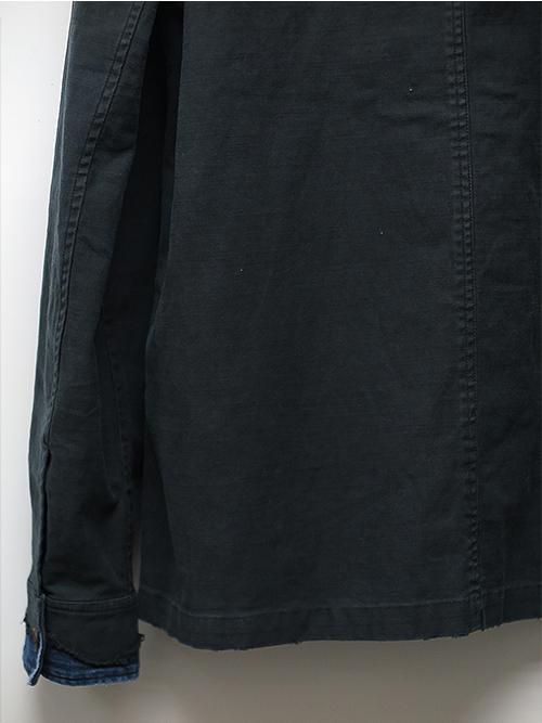 SALE50%OFF/wjk・ダブルジェイケイ/no-collar remake shirt black.