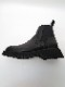 JULIUS・ユリウス/COW SKIN LEATHER CHELSEA BOOTS/BLACK